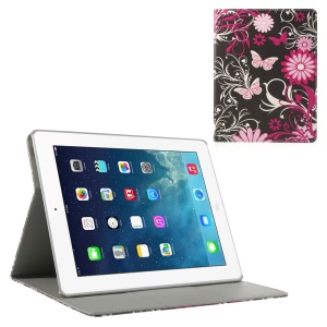 Butterfly Flowers Smart Leather Stand Case for iPad 2 3 4