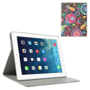 Colorized Pattern Smart Leather Stand Cover for iPad 2 3 4