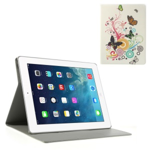 Circles Butterfly PU Leather Smart Case w/ Stand for iPad 2 3 4