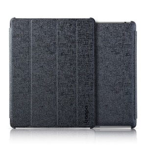 Banpa Maya Series for iPad 2 3 4 Oracle Leather Four-fold Bracket Smart Case - Black