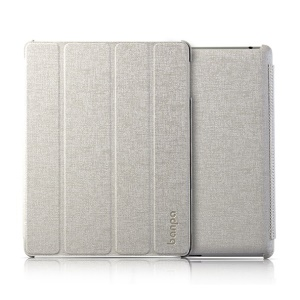 Banpa Maya Series for iPad 2 3 4 Oracle Leather Four-fold Bracket Smart Case - Light Grey