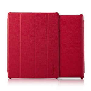Banpa Maya Series for iPad 2 3 4 Oracle Leather Four-fold Bracket Smart Case - Red