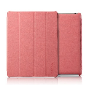 Banpa Maya Series for iPad 2 3 4 Oracle Leather Four-fold Bracket Smart Cover - Pink