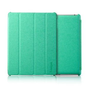 Banpa Maya Series for iPad 2 3 4 Oracle Leather Four-fold Bracket Smart Cover - Green