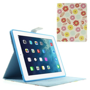 Cartoon Flowers & Leaves Magnetic Smart Leather Case w/ Stand for iPad 2 3 4