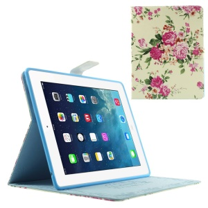 Appealing Blooming Roses for iPad 2 3 4 Smart Leather Stand Case Cover