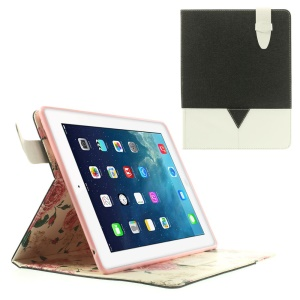 Matilanuo Two-tone Protective Smart Leather Case with Stand for iPad 2 3 4 - Black / White