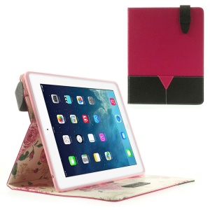 Matilanuo Two-tone Premium Smart Leather Stand Cover for iPad 2 3 4 - Rose / Black