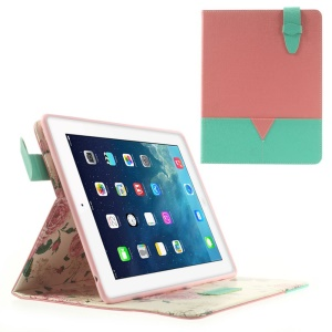 Matilanuo Two-tone Durable PU Leather Smart Case Stand for iPad 2 3 4 - Pink / Cyan