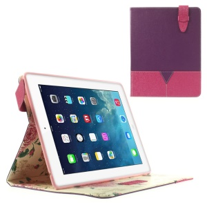 Matilanuo Two-tone Smart Leather Shell w/ Stand for iPad 2 3 4 - Purple / Rose