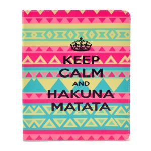 Quote Keep Calm and Hakuna Matata for iPad 2 3 4 Smart Leather Case with Stand