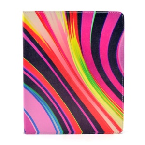 Colorful Stripes for iPad 2 3 4 Smart Leather Tablet Case with Stand