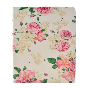 Appealing Blooming Roses Smart Leather Shell Case with Stand for iPad 2 3 4