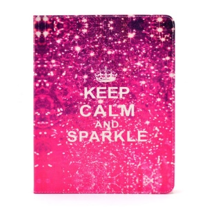 Keep Calm and Sparkle Smart Leather Protector Case Stand for iPad 2 3 4