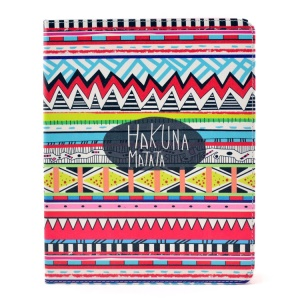 Tribal Tribe Hakuna Matata Smart Leather Skin Case w/ Stand for iPad 2 3 4