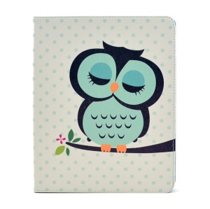 Cute Sleeping Owl Stand PU Leather Smart Cover Shell for iPad 2 3 4