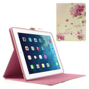 Pretty Fuchsia Floret Protective Smart Leather Stand Case for iPad 2 3 4
