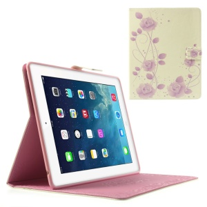 Aesthetic Violet Roses for iPad 2 3 4 Awakening Smart Leather Shell w/ Stand