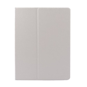 White Oracle Grain Smart Leather Rotary Stand Cover for iPad 2 3 4
