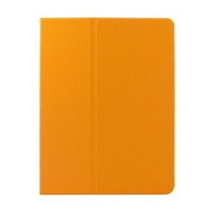 Orange Oracle Grain Smart Leather Rotary Stand Case Cover for iPad 2 3 4