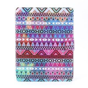 Colorized Tribal 360 Degree Rotary Smart Leather Card Holder Cover for iPad 2 3 4