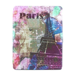 Eiffel Tower 360 Degree Rotary Smart Leather Card Holder Stand Case for iPad 2 3 4