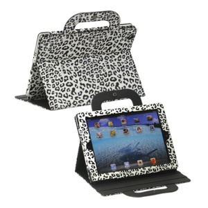 Leopard Handbag Leather Smart Cover for iPad 2 3 4