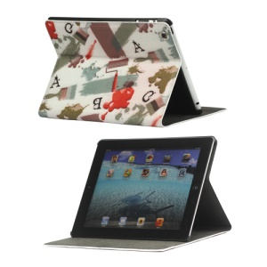 Graffiti Leather Smart Cover with Stand for iPad 4th 3rd 2nd Generation