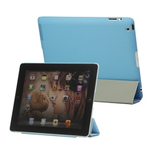 Slim Leather Smart Cover with Stand for iPad 2nd 3rd 4th Gen - Blue