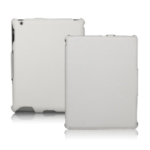 Slim Lychee PU Leather Case Cover for iPad 2nd 3rd 4th Gen - White