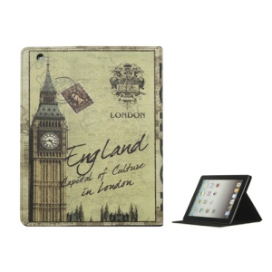 British Style Big Ben PU Leather Smart Cover Stand for iPad 2nd 3rd 4th Gen