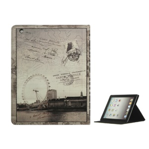 London Eye Ferris Wheel PU Leather Smart Cover with Stand for iPad 2nd 3rd 4th Gen