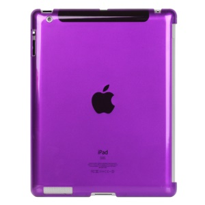 Clear Smart Cover Companion Crystal Case for iPad 2 The New iPad 3rd Generation - Purple