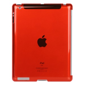 Clear Smart Cover Companion Crystal Case for iPad 2 The New iPad 3rd Generation - Red