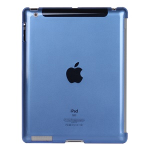 Clear Smart Cover Companion Crystal Case for iPad 2 The New iPad 3rd Generation - Blue