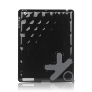 "Loop Handle ""OK"" Pattern Bubble Slider Hard Case for The New iPad 3rd Generation - Black;Purple"