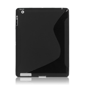 S Shape TPU Gel Case Cover for New iPad 2nd 3rd 4th Generation