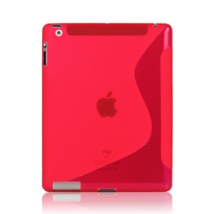 S-Line Wave TPU Gel Case for New iPad 2 3 4  - Rose
