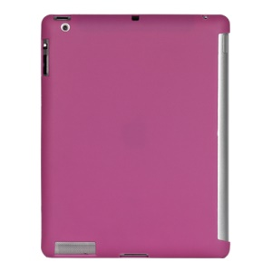 Smart Cover Companion TPU Gel Case for iPad 2 3 4 - Purple