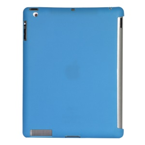 Smart Cover Companion TPU Gel Case for iPad 2 3 4 - Blue