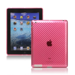Stylish Diamond TPU Skin Cover Case for New iPad 2nd 3rd 4th Gen  - Pink
