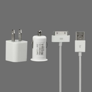 US Plug Home Wall Charger + Car Charger for The new iPad iPhone iPod