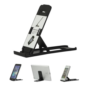 Foldable Plastic Stand Mount Holder for The new iPad iPhone Tablet PC and etc - Black