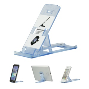 Clear Foldable Stand Mount for The new iPad iPhone Tablet PC and etc - Light Blue