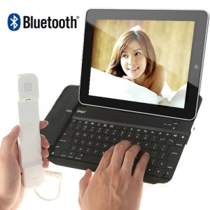 iPega iPad Skype Bluetooth Keyboard with Telephone Handset for The New iPad / iPad 2 / iPad