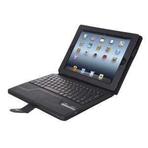 Seenda IS11-I311H Detachable Bluetooth Keyboard + Leather Case w/ Kickstand for iPad 4 3 2 - Black