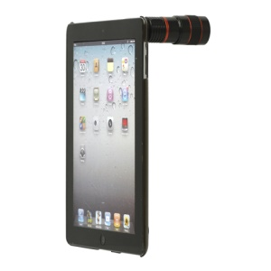 8X Optical Zoom Telephoto Lens Telescope with Hard Case for iPad 2 / New iPad - Black