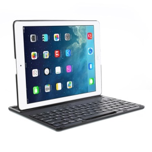 360 Degree Rotating Bluetooth Keyboard Cover Desk Stand for iPad 4 / 3 / 2 - Black
