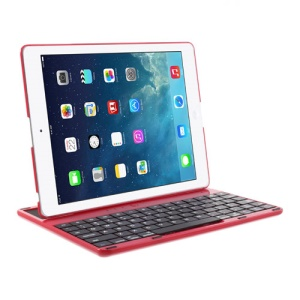 360 Degree Rotating Bluetooth Keyboard Cover Desk Stand for iPad 4 / 3 / 2 - Red