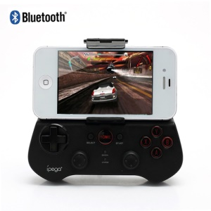 iPega Wireless Bluetooth Game Controller for iPhone iPad Samsung Android PCs Etc Games - Black